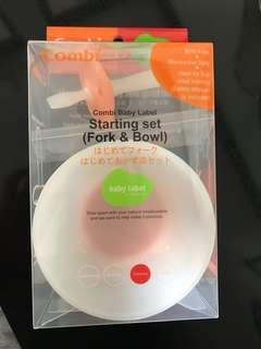 Combi Baby Label Starting Set (Fork & Bowl)