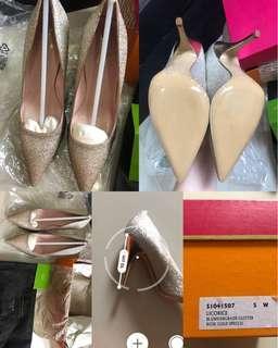 Sepatu heels kate spade glitter