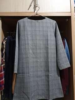 (New) Plaid Midi Dress