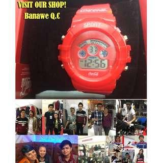 Authentic Coca-Cola Coke American Digital Watch Red Sport Collectibles