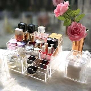 透明桌上化妝品收納盒