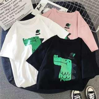 Dinosaur T-shirt ullzang fashion