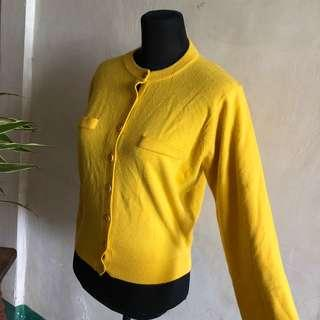 Love rosie ins yellow knit jacket
