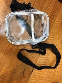 時尚透明斜揹袋