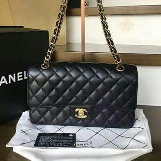 🚚 LNIB #222xxxx Chanel Classic Medium GHW