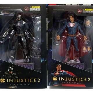 Superman Batman 超人 蝙蝠俠 Figure 一對 HIYA