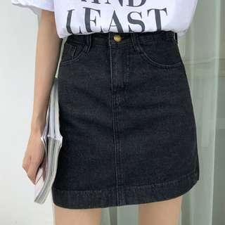 [PO] Plus Size Denim Skirt