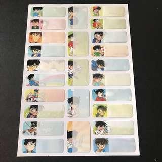 名偵探柯南 姓名貼紙 Detective Conan Name Stickers