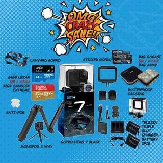 Gopro Hero7 Black - Crazy Sale ( Ready Stock ) - 1 Years Warranty - GoPro Hero 7 Black / GOPRO HERO 7 BLACK