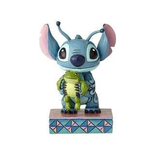 (代購) Disney Traditions Strange Life Forms Stitch with Frog Figurine 史迪仔擺設