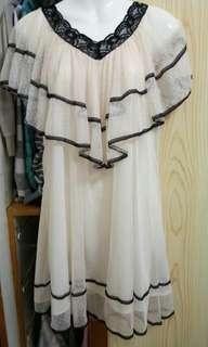 🚚 全蕾絲膚色洋裝
