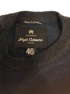 ce5b44d160f2 Nigel cabourn knitwear pullover navy grey