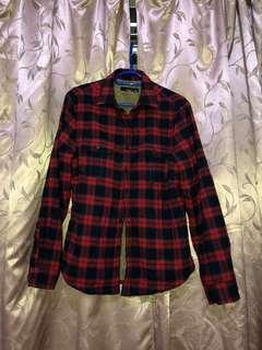Red Checked Fleece Shirt