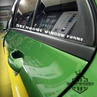 Car dechroming from chrome to black!!