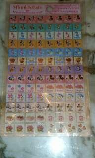 Disney Minnie's stickers 廸士尼美妮貼紙(日本正版)