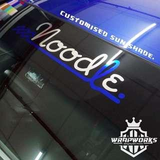 Customised sunshade wordings / design for your car!!