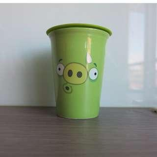 Angrybirds 綠色水杯