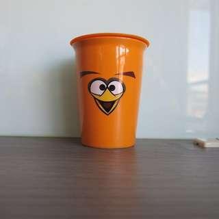 Angrybirds 橘色水杯
