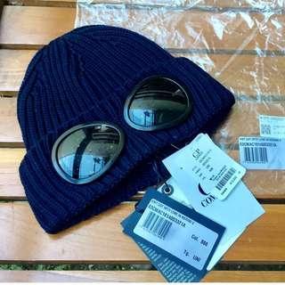 C.P Company Knit Cap With Lens in Merino E - Navy