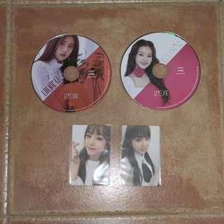 🚚 wts iz*one color*iz photocard and cd