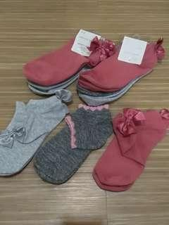 Set of 3 Ankle Socks with bow
