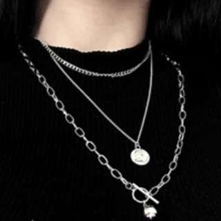 [PO] Trendy layered chain necklace