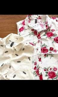 New H&M SHIRT FLORAL DIVIDED