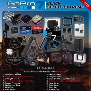 Gopro Hero7 Black - Selfie Set ( Ready Stock ) - 1 Years Warranty - GoPro Hero 7 Black / GOPRO HERO 7 BLACK