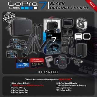 Gopro Hero7 Black - Original Set ( Ready Stock ) - 1 Years Warranty - GoPro Hero 7 Black / GOPRO HERO 7 BLACK