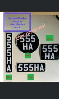 🚚 (Preorder 3-7days)License sticker label for Escooter PMD Ebike (LTA compliant)
