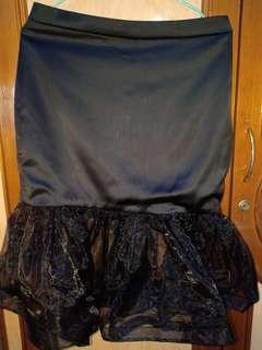 black mermaid skirt