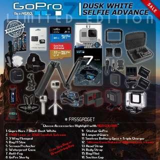 Gopro Hero7 Black Dusk White - Limited Edition ( Ready Stock ) - 1 Years Warranty - GoPro Hero 7 Black dusk white / GOPRO HERO 7 BLACK DUSK WHITE