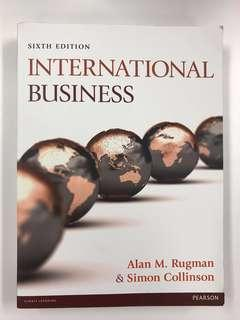 International Business (6th Edition) by Alan M. Rugman and Simon Collinson - Business textbook 商科書