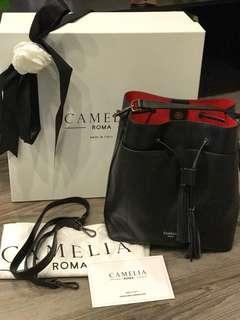 CAMELIA  ROMA 黑色水桶包 9成新 3800元