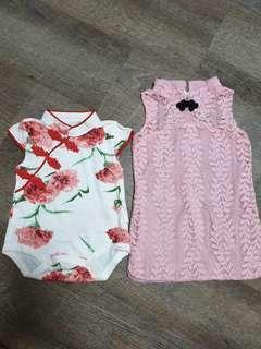🚚 Almost brand new CNY baby girl cheongsam qipao