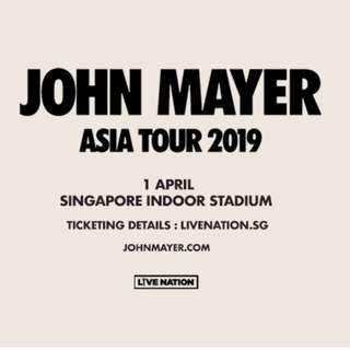 John Mayer Singapore ticket
