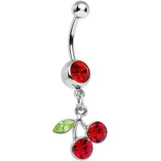 Cherry Belly Ring