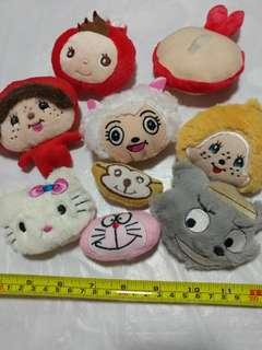 [Clearance/ Sales] Cat/ Monkey/ Wolf/ Sheep etc Patch/ Soft Toy/ Plush Toy Set for Brooch/ Badge/ Pin/ Hair Clip/ Hair Tie/ Hair Band - Women Fashion/ Hair Accessories/ DIY/ Handmade/ Craft Accessories