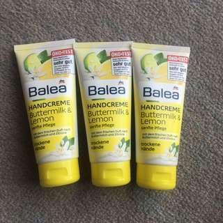 德國dm Balea buttermilk and lemon hand cream 護手霜 100ml