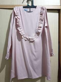 Bytre Pink Midi Dress