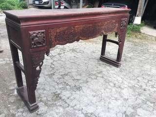 日據 尾 光復初 檜木 雕刻 頂桌 神桌 一塊板