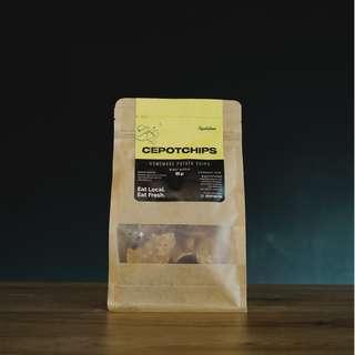 Cepotchips (potato chips/keripik kentang dibalut dengan tepung rempah) 80 gr