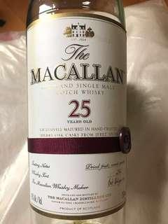 Macallan 25 吉樽
