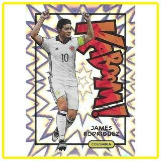 🚚 2017 Panini Select Soccer James Rodriguez Kaboom!