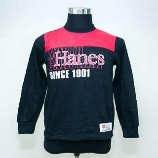 Authentic HANES Spell Out Pullover Sweatshirt