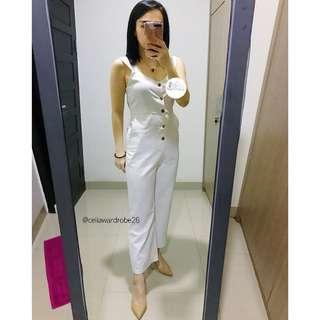 OS - 071 BAJU IMPORT PREMIUM JUMPSUIT KULOT LINEN BOW BOW HIGH QUALITY RECOMENDED