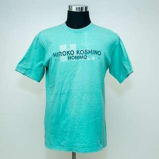 Authentic HIROKO KOSHINO Japanese Designer Big Logo T-Shirt