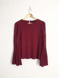 CLUB MONACO bell sleeve blouse S