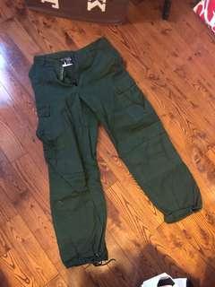 Military Green Cargo Pants
