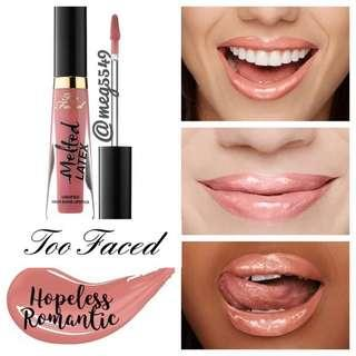 NEW Too Faced Melted Latex Lipstick